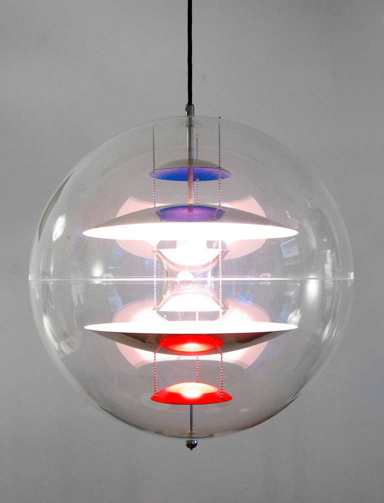 lamp chandelier by verner panton vp globe at 1stdibs. Black Bedroom Furniture Sets. Home Design Ideas