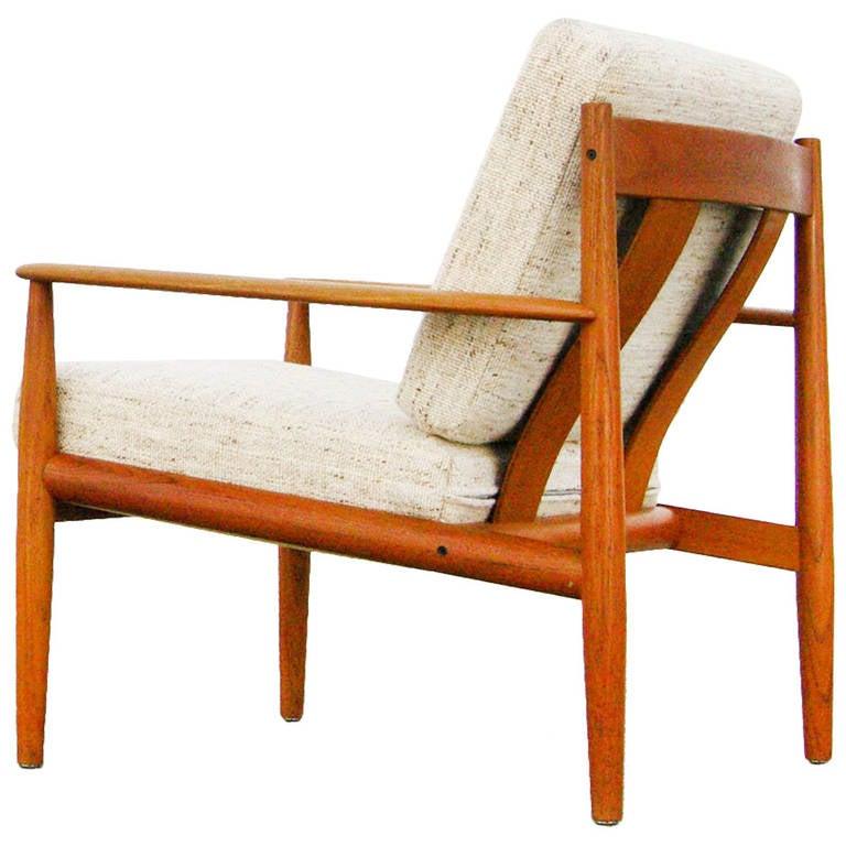 Teak easy chair by grete jalk for france and son danish modern design 1960s at 1stdibs - Danish design mobel ...