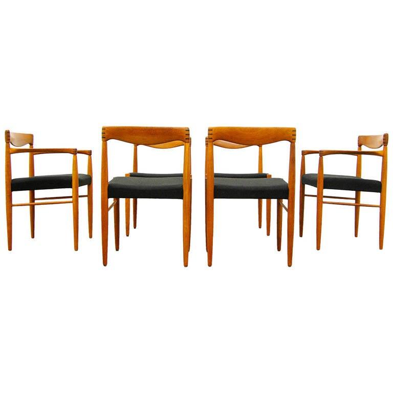 Six Teak Dining Chairs By H.W. Klein For Bramin, Danish Modern Design,  1960s 1
