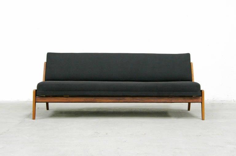 teak sofa or daybed by arne wahl iversen danish modern design 1960s 3 - Daybed Sofa
