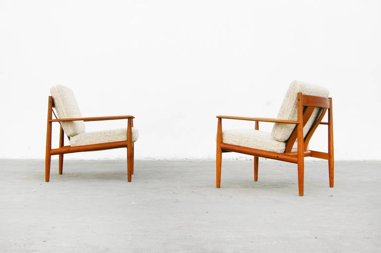 teak easy chair by grete jalk for france and son danish modern design 1960s at 1stdibs. Black Bedroom Furniture Sets. Home Design Ideas