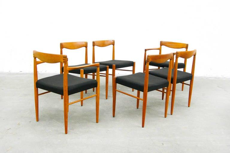 Six teak dining chairs by h w klein for bramin danish modern design 1960s at 1stdibs - Danish design mobel ...