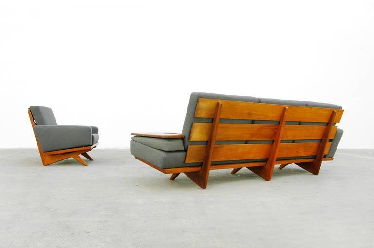 easy chair by gustav thams model 61 danish modern design. Black Bedroom Furniture Sets. Home Design Ideas