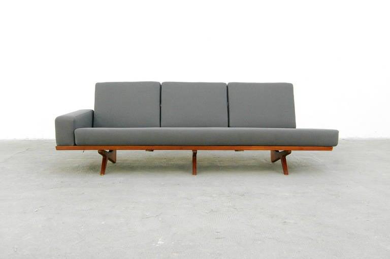 teak sofa by gustav thams model 61 danish modern design. Black Bedroom Furniture Sets. Home Design Ideas