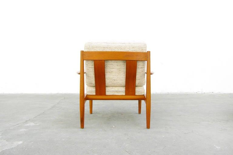 teak easy chair by grete jalk for france and son danish. Black Bedroom Furniture Sets. Home Design Ideas