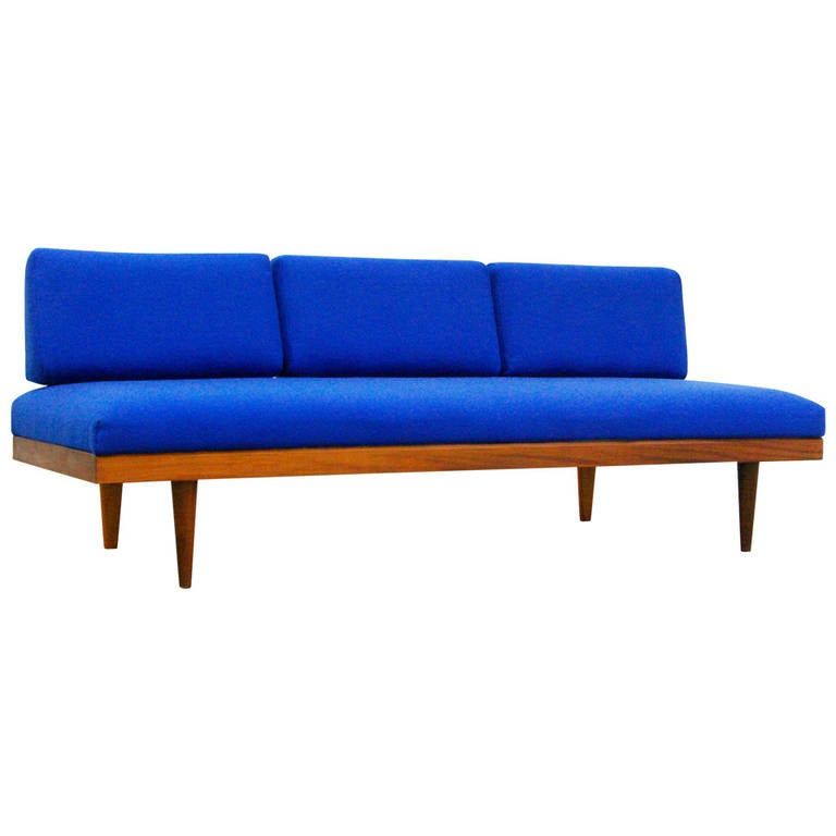 Mid Century Modern Design Teak Sofa Or Daybed By Swane
