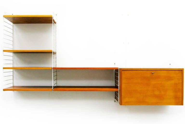 Mid-Century Modern Wall Unit by Nisse Strinning String Teak Shelving ...