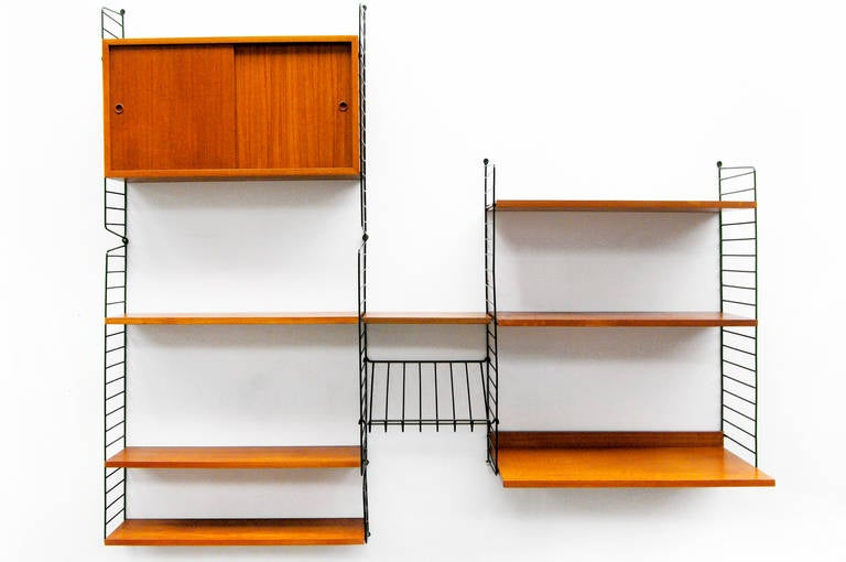 Mid-Century Modern Wall Unit by Nisse Strinning String Teak Shelving ...