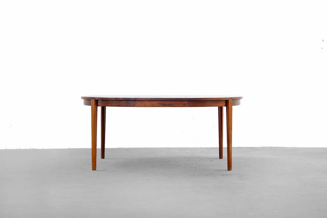 Esstisch Danish Teak ~ Rosewood Dining Table by Rosengren Hansen, Danish Modern, 1960s For Sale at 1
