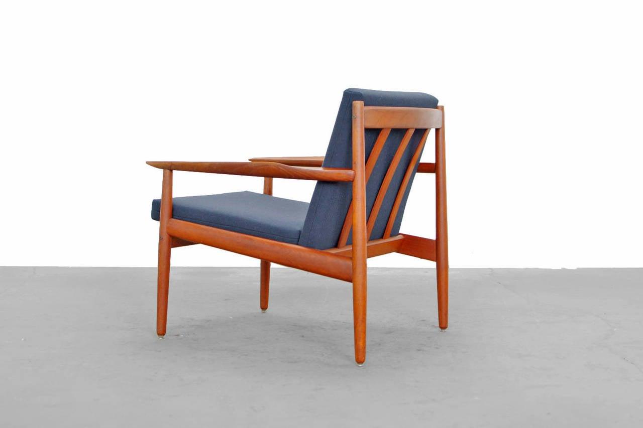 set of teak armchairs by arne vodder glostrup denmark at. Black Bedroom Furniture Sets. Home Design Ideas