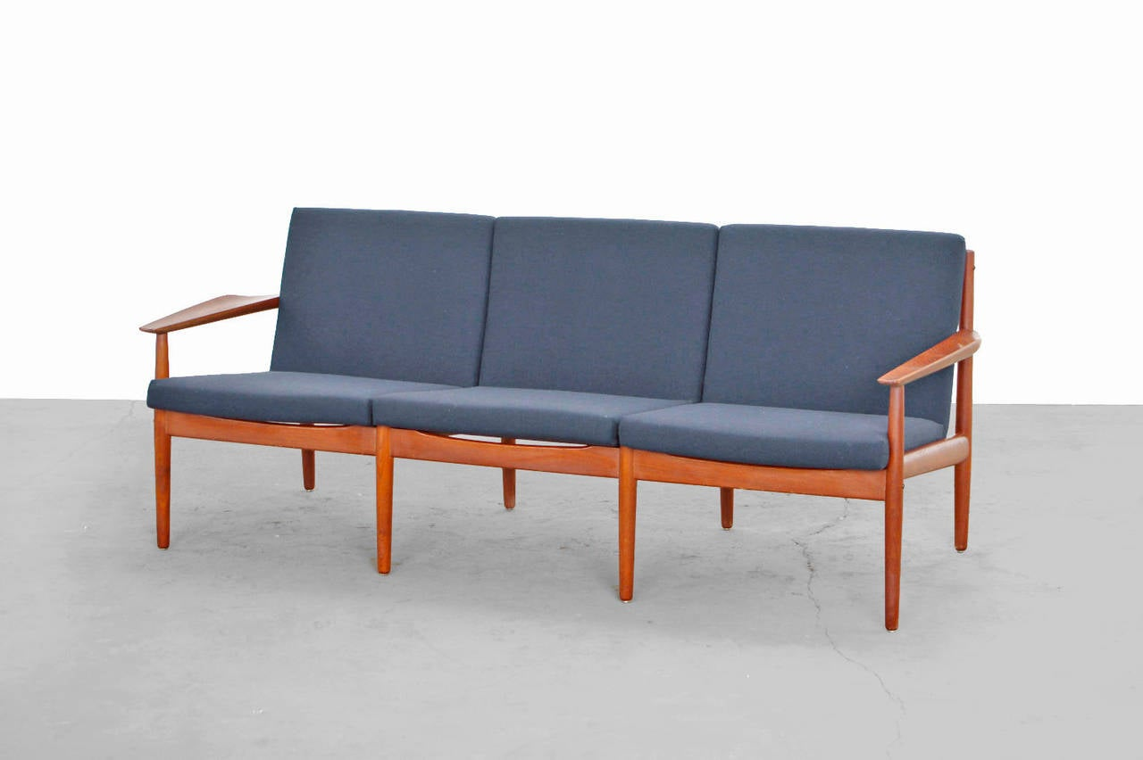 Teak Sofa By Arne Vodder For Glostrup Denmark Kvadrat 3