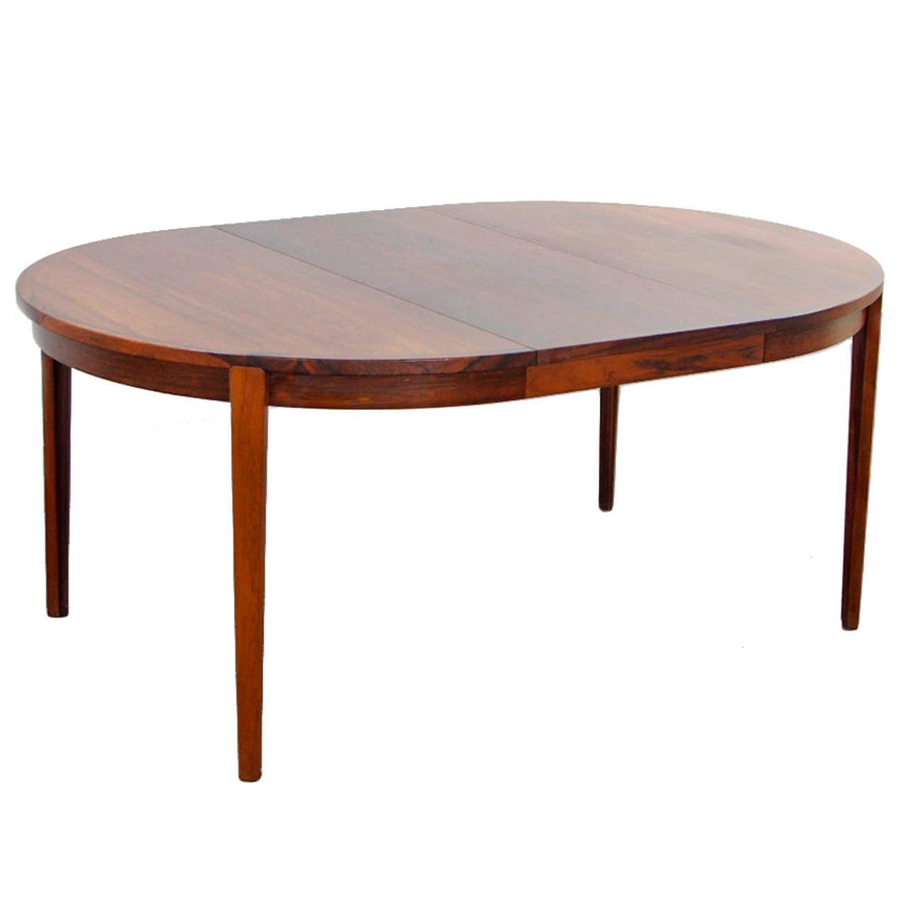 rosewood dining table by rosengren hansen danish modern 1960s