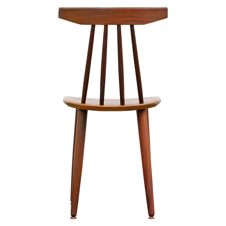 this teak side chair by poul volther model 370 for frem r jle danish