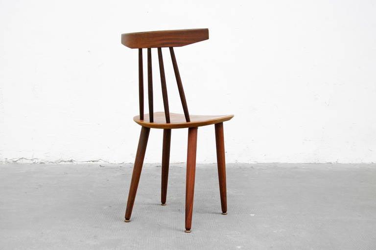 teak side chair by poul volther model 370 for frem r jle. Black Bedroom Furniture Sets. Home Design Ideas