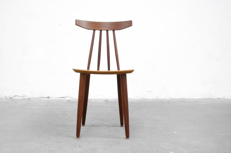 Teak side chair by poul volther model 370 for frem r jle for Danish design stuhl