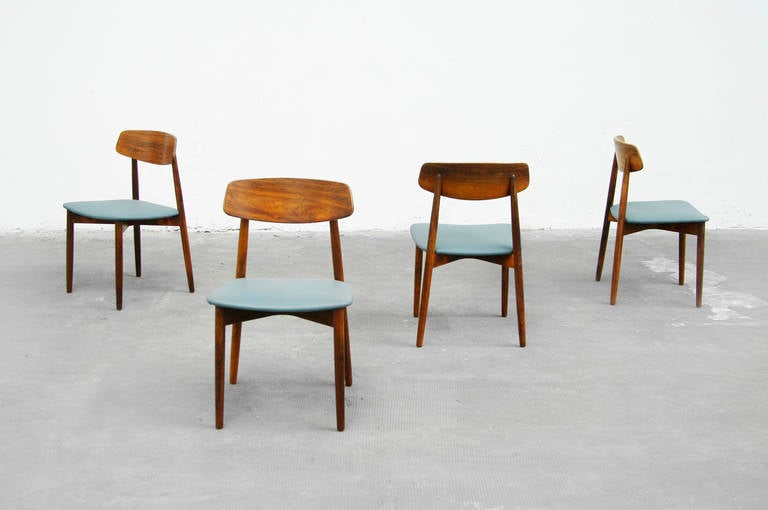 of four rosewood dining chairs danish modern design 1960s at 1stdibs