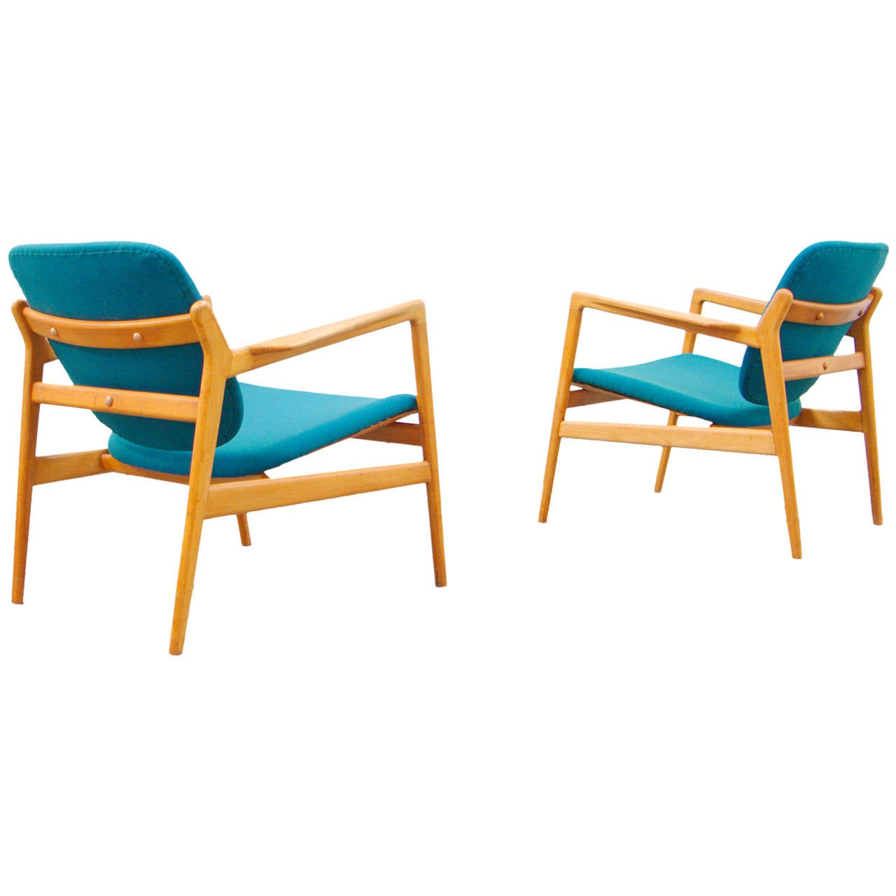 Pair of easy chairs mid 20th century modern design for Mid 20th century furniture