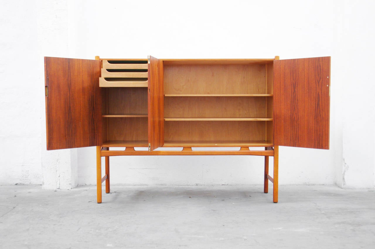 highboard by david ros n for nordiska mid century modern design teak oak at 1stdibs. Black Bedroom Furniture Sets. Home Design Ideas