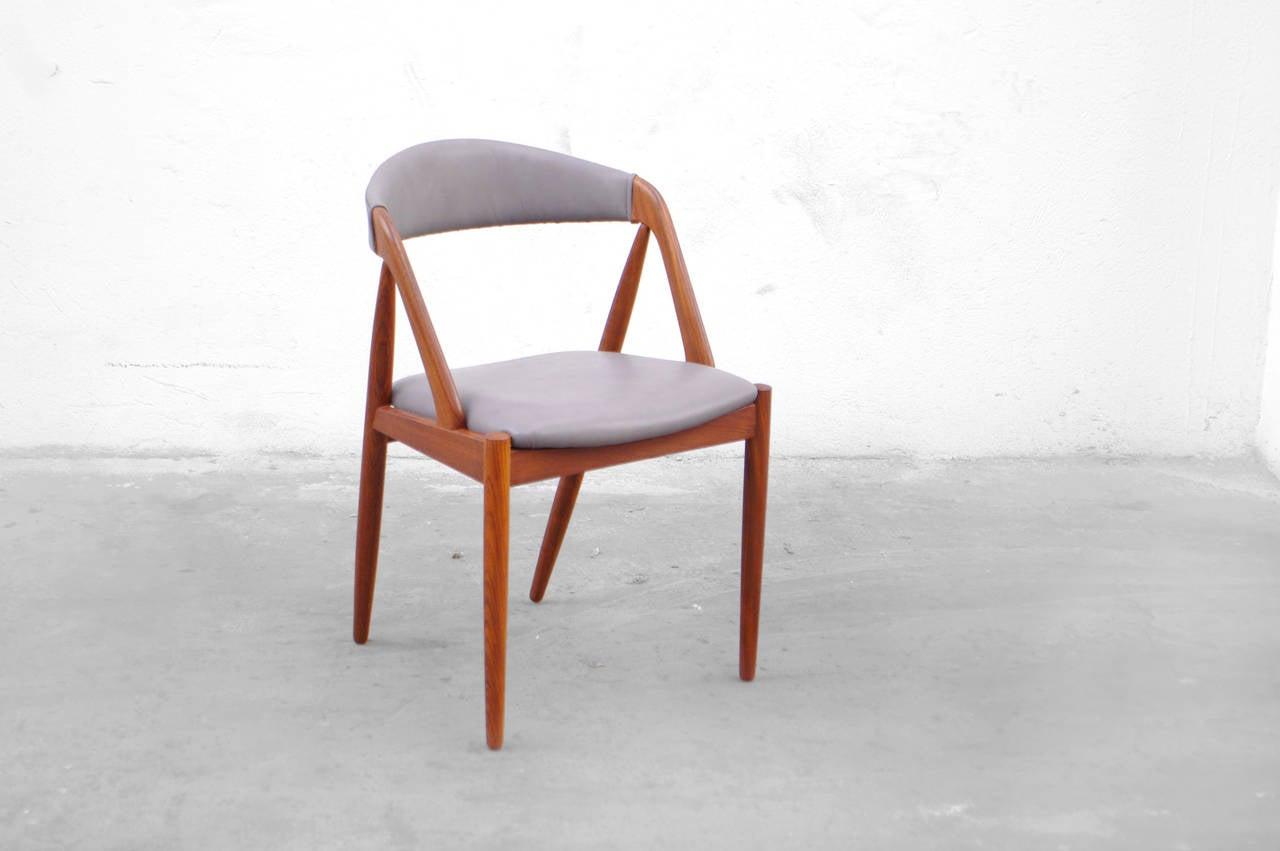 set of four dining chairs by kai kristiansen no 31 teak danish