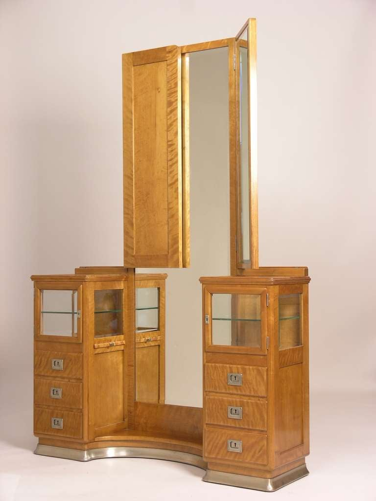 viennese art nouveau dressing table with mirror image 3