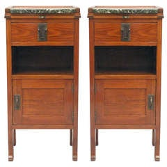 Pair of Nightstands from Vienna, Dated 1910