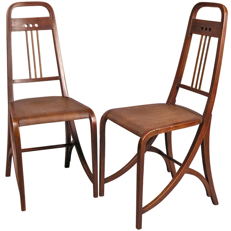 Pair Of Thonet Chairs Model No 511 At 1stdibs