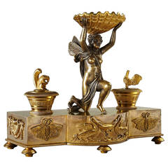 Fine Early 19th Century Empire Russian Inkstand, St. Petersburg, circa 1810
