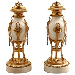 Pair of Late 18th Century Louis XVI Cassolettes Candleholders