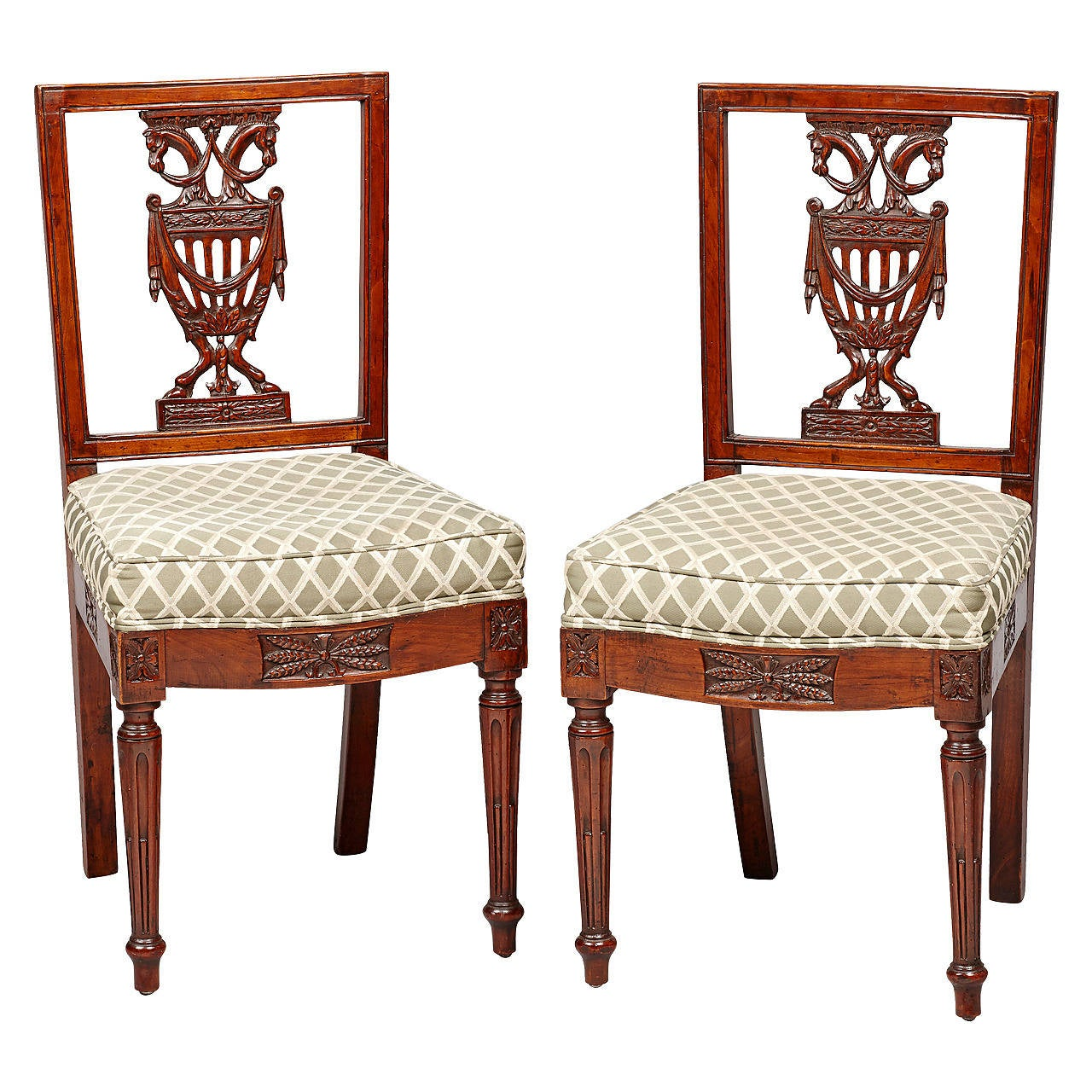 pair of royal late 18th century neoclassical berlin side. Black Bedroom Furniture Sets. Home Design Ideas