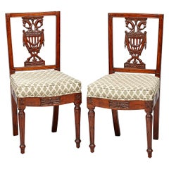 Pair of Royal Late 18th Century Neoclassical Berlin Side Chairs