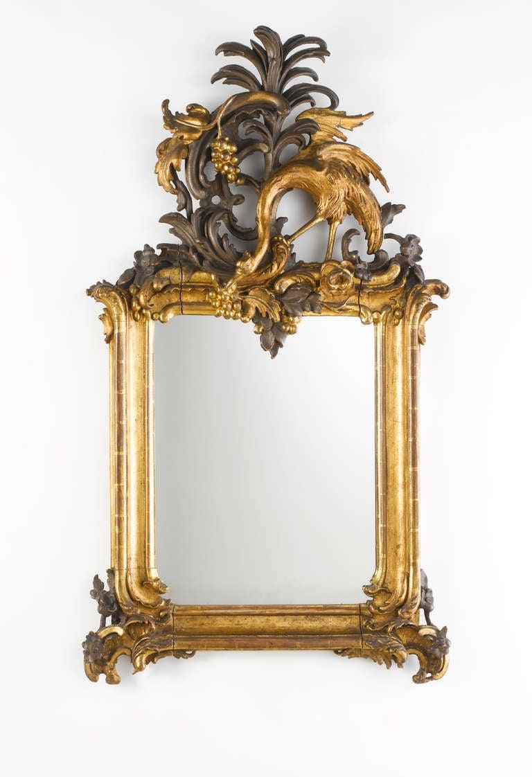 Important Royal German Rococo Mirror Circa 1745 1755