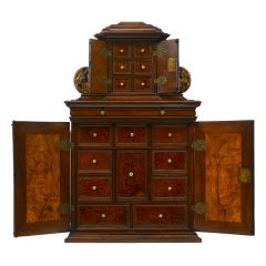 South German 17th Century Baroque Table Cabinet, Probably Augsburg