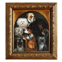 'Study of Dogs', German mid-19th c. Painting
