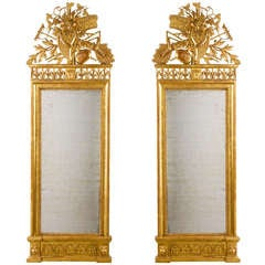 Pair of Neo-classical Italian Pier Mirrors attributed to Giovan Battista Dolci