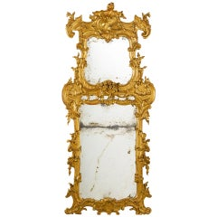 Large and Unusal 18th Century Italian Baroque Pier Mirror