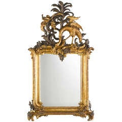 Important Royal German Rococo Mirror, Circa 1745-1755
