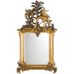 Important Royal German Rococo Mirror, Circa 1745-1755