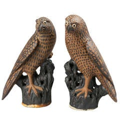 Pair of Early 19th Century Chinese Hawks