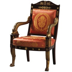 Important French Empire Early 19th Century Armchair