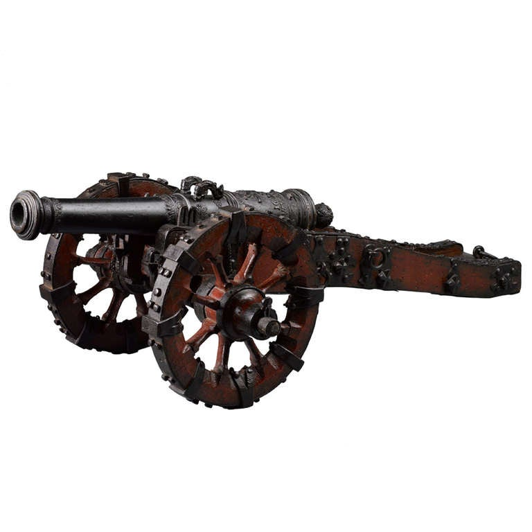 Rare Dutch 17th C Model Cannon At 1stdibs