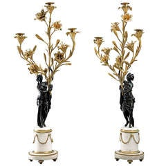 Pair of 18th Century Louis XVI Candelabra