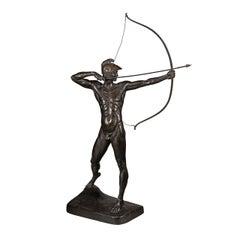 Large German Bronze 'The Archer' by Ernst Moritz Geyger, Berlin