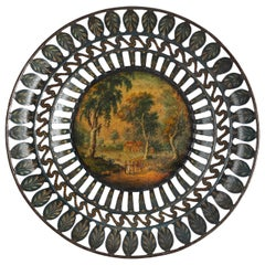 Unusual and Attractive Tole Peinte Dish, German Biedermeier, Early 19th Century