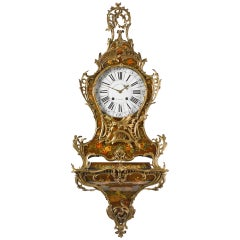 Rare French 18th Century Louis XV Vernis Martin Bracket Clock