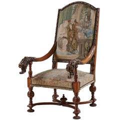 Großartiger Deutscher Barocker Walnuss-Sessel aus dem Späten 17. Jahrhundert