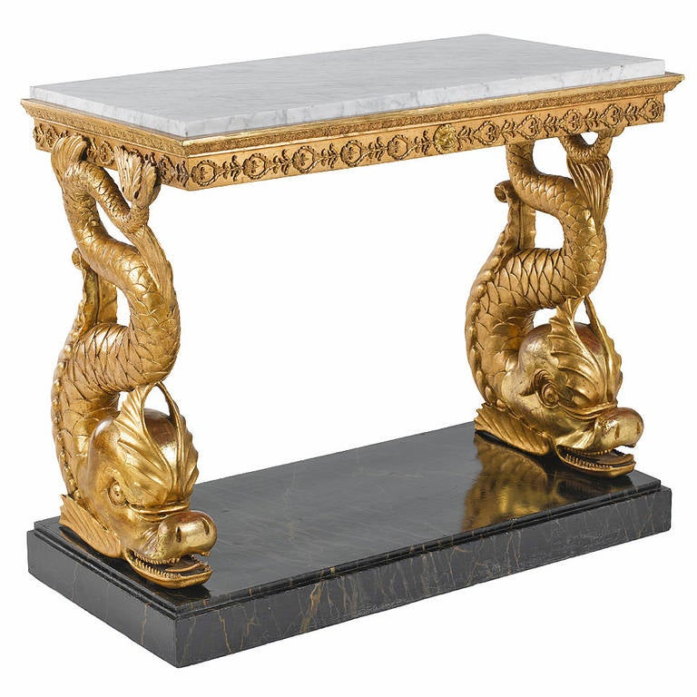 Highly Decorative, Early 19th Century Gustavian, Swedish Console Table