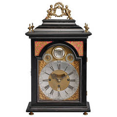 Austrian 18th Century Baroque Period Bracket Clock, Signed Andreas Hohenadl