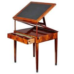 Early 19th Century Empire Mahogany Architects Table by Jean-Joseph Chapuis