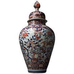 Monumental Imari Vase and Cover, Japan, Arita, Edo Period, Late 17th Century