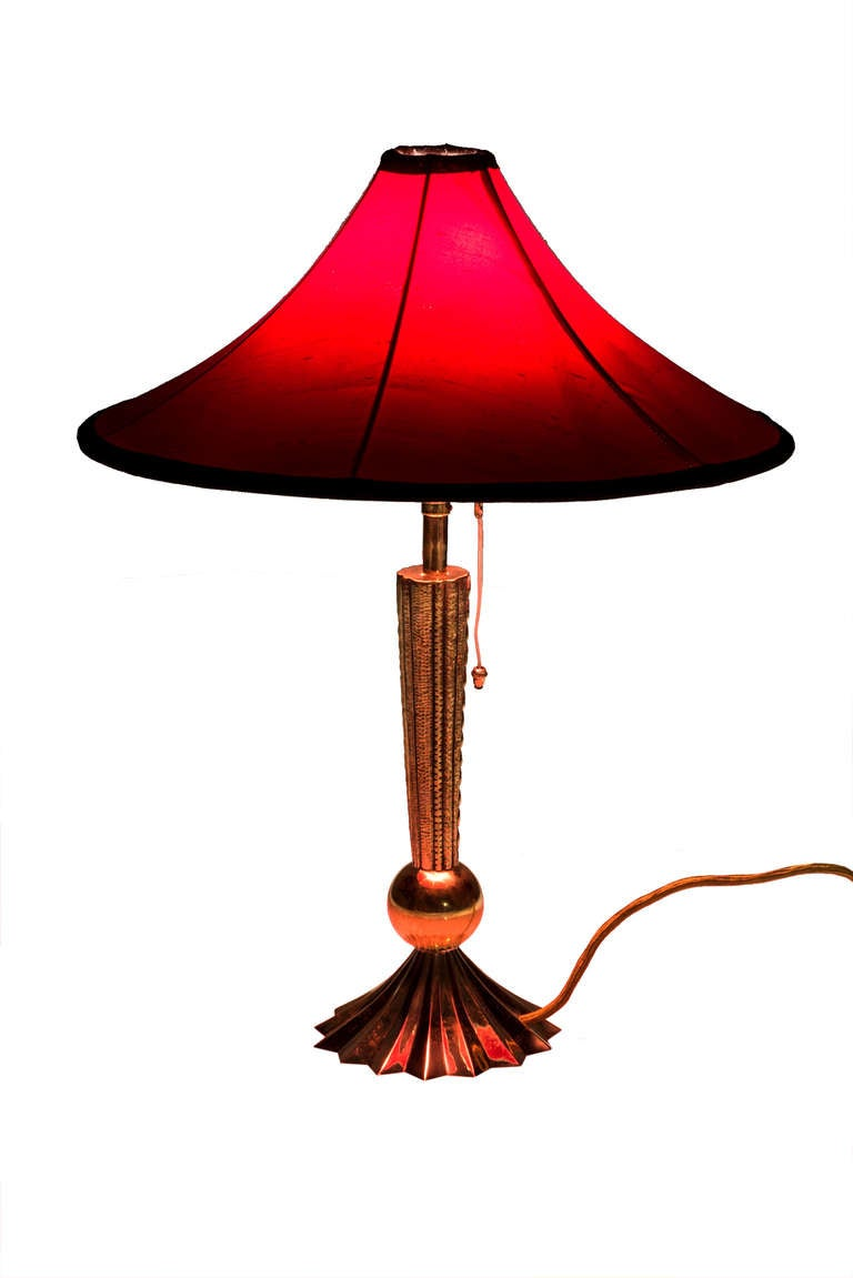 Table Lamp Werkstatte Hagenauer, Mid-1920s In Excellent Condition For Sale In Vienna, AT